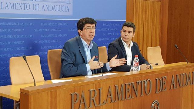 Juan Marín junto a Sergio Romero