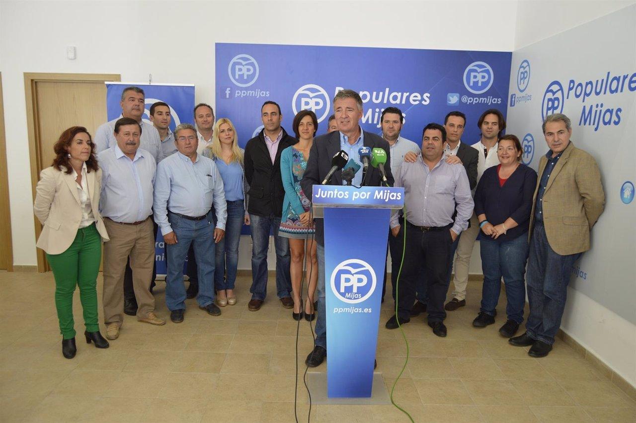 Rueda de prensa de los ediles del PP en Mijas. Angel Nozal