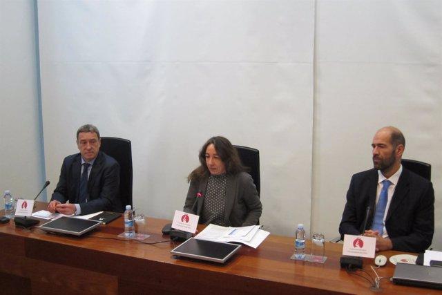 Endika Sánchez, Marisol Garmendia y Marcos Boronat