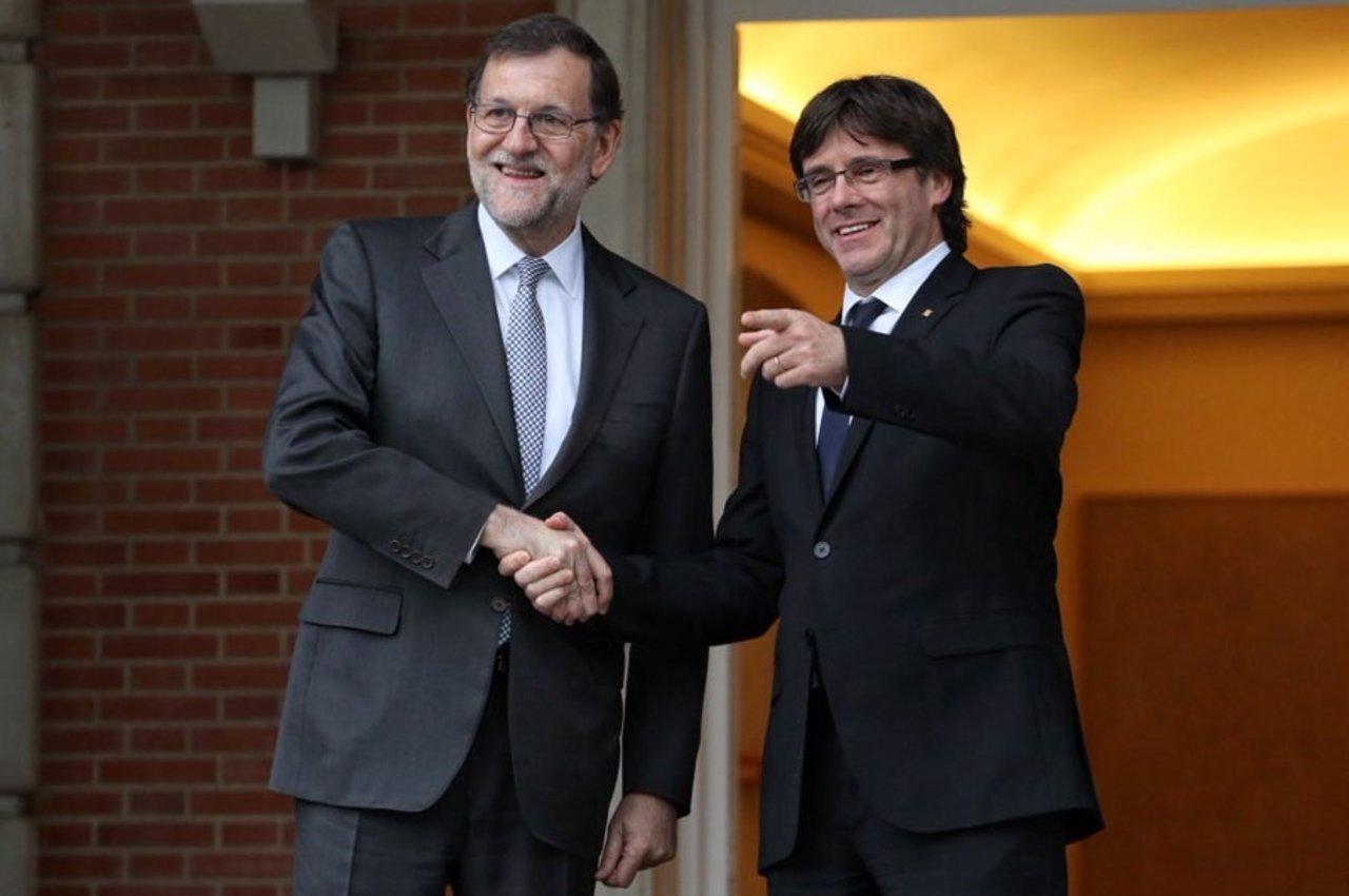 Mariano Rajoy recibe a Carles Puigdemont