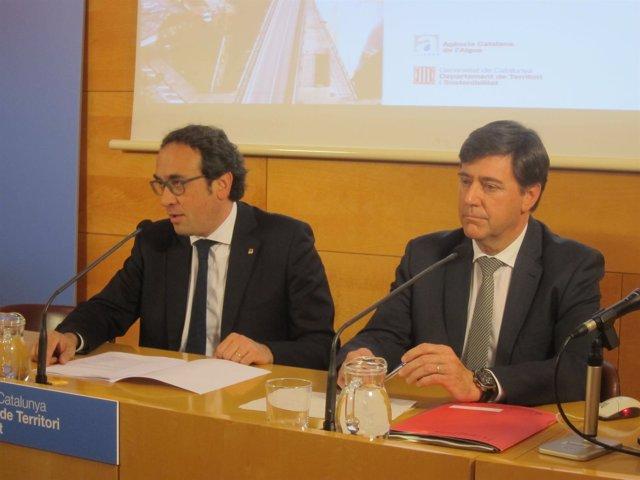 El conseller Josep Rull y Jordi Agustí (ACA)