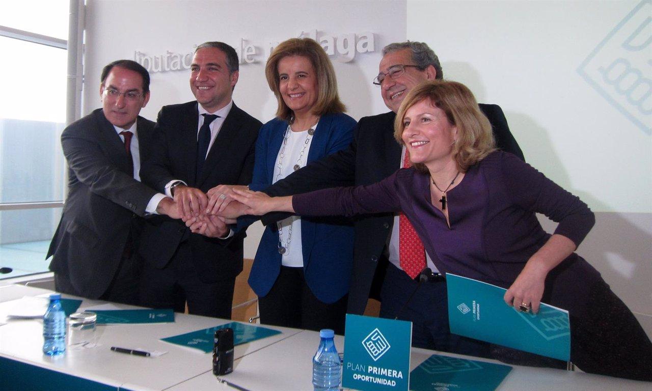 González de Lara, Bendodo, Fátima Báñez, rector UMA y directora UNED