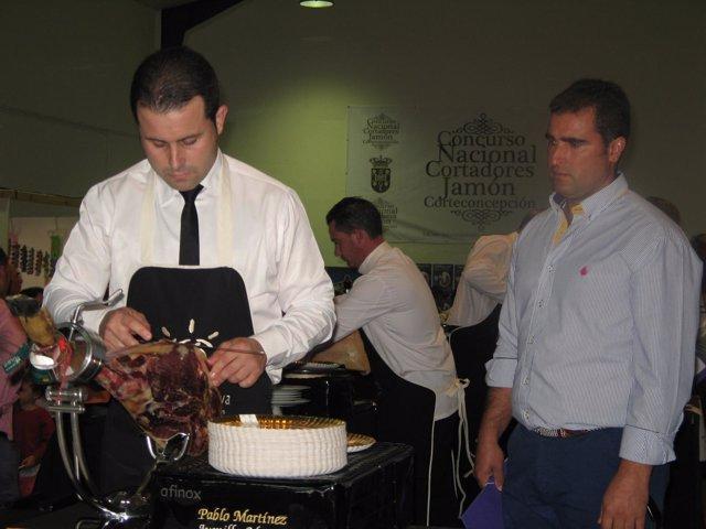 Concurso de cortadores de jamón ibérico.