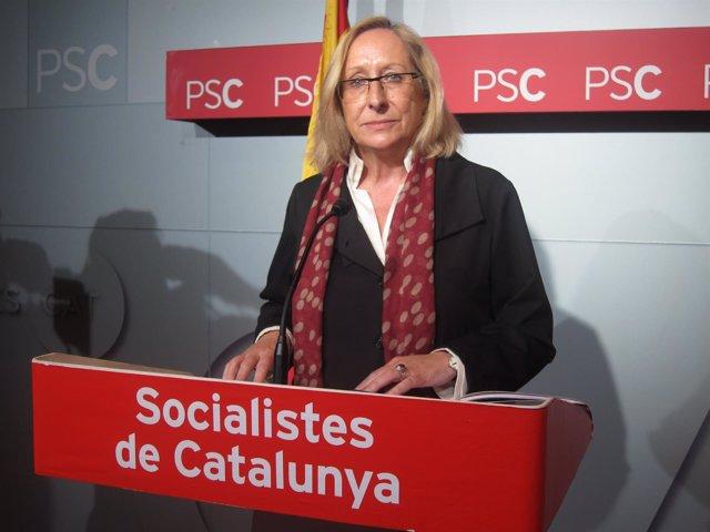 La secretaria de Organización del PSC, Assumpta Escarp
