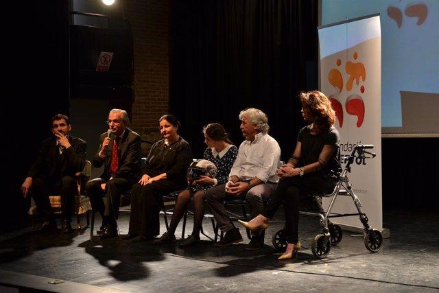 Ángel Nieto apoya un teatro para personas con discapacidad
