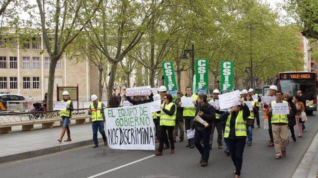 Manifestación CSIF Ayuntamiento