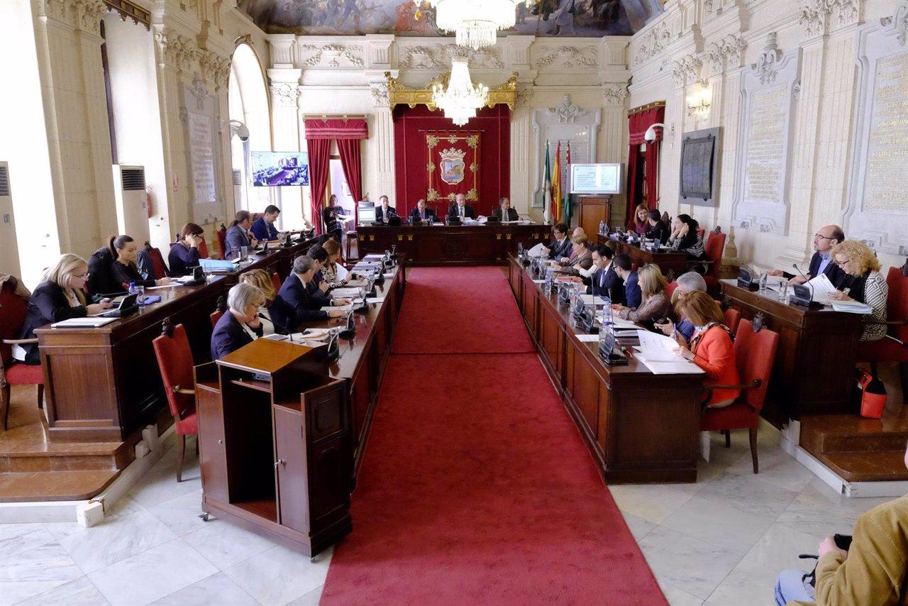 Pleno del Ayuntamiento de Málaga marzo 2016