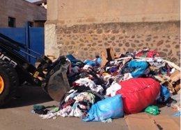 Mercancía intervenida en un mercadillo en Melilla