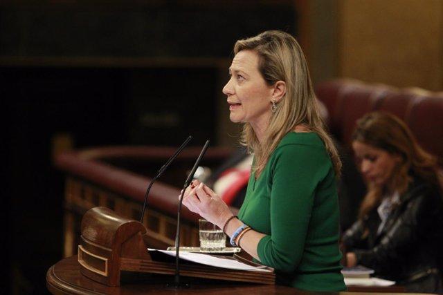 La juez Victoria Rosell, de Podemos, en el Congreso