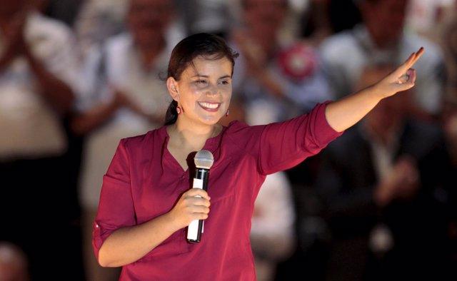 Veronika Mendoza, candidata presidencial del Frente Amplio