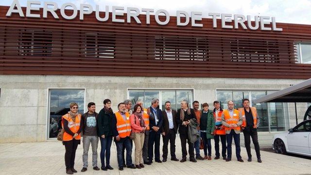 Visita al Aeropuerto de Teruel