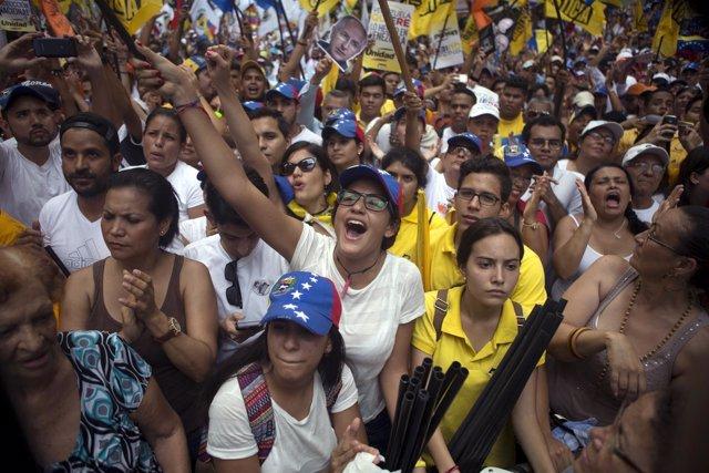 Protesta opositora en Caracas