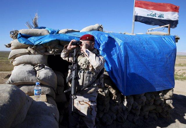 Soldado iraquí en Majmur