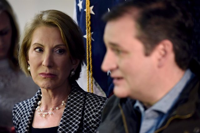 Ted Cruz y Carly Fiorina