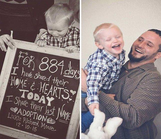 20 Conmovedoras Fotografías De Niños Que Acaban De Ser Adoptados