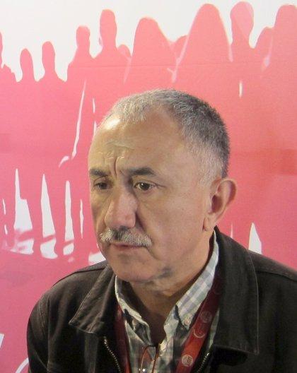 Álvarez (UGT) denuncia que el Gobierno de Rajoy no ha hecho políticas para crear empleo