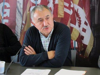 """Álvarez (UGT) piensa que hubo """"oportunidades de renegociar"""" el pacto PSOE-C's para que """"pudiera entrar Podemos"""""""