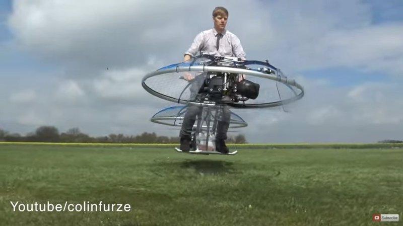 La primera bicicleta voladora