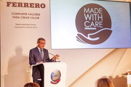 Ferrero se compromete a que 100% de materias primas que utilice en 2020 sea sostenible