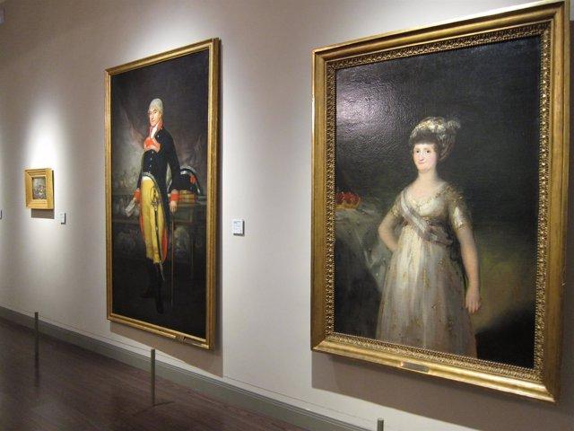 La sala central del Museo Goya. Colección Ibercaja, con los cuadros de Goya