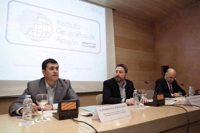 Presentación del Instituto Geográfico de Aragón.