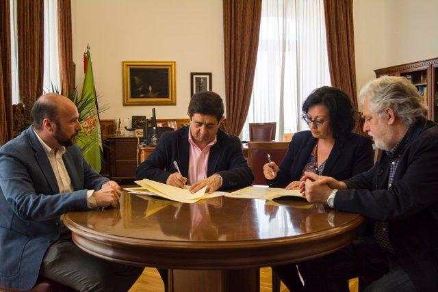 La Diputación de Jaén firma un convenio con UPTA Andalucía