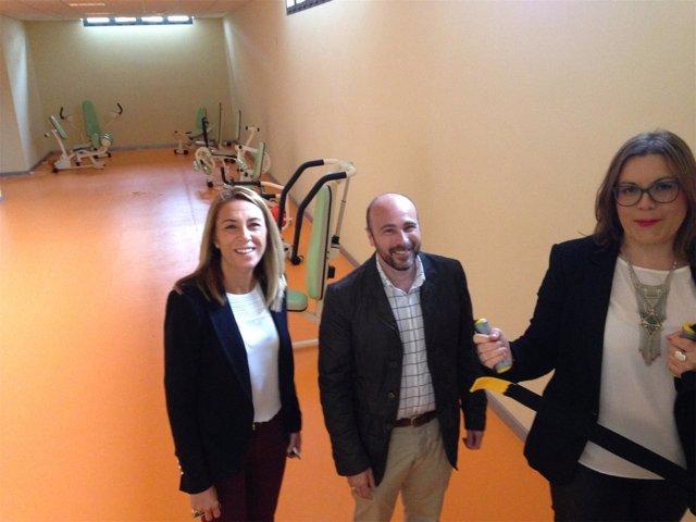 Visita del diputado de Empleo de Jaén a Santiago de Calatrava