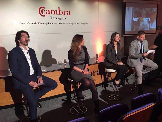 La líder de C's en Catalunya, Inés Arrimadas, en la presentación de AutONomos