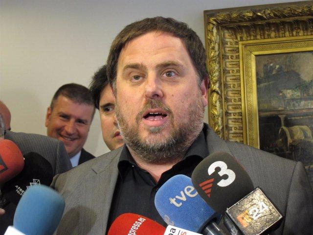 El conseller Oriol Junqueras