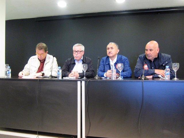 Ignacio Fernández Toxo y Pepe Álvarez (CCOO y UGT) en el Día del Trabajador