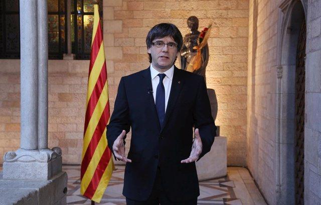 Mensaje de C.Puigdemont por Sant Jordi 2016