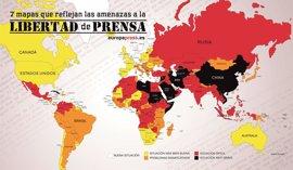 7 mapas que reflejan las amenazas a la libertad de prensa