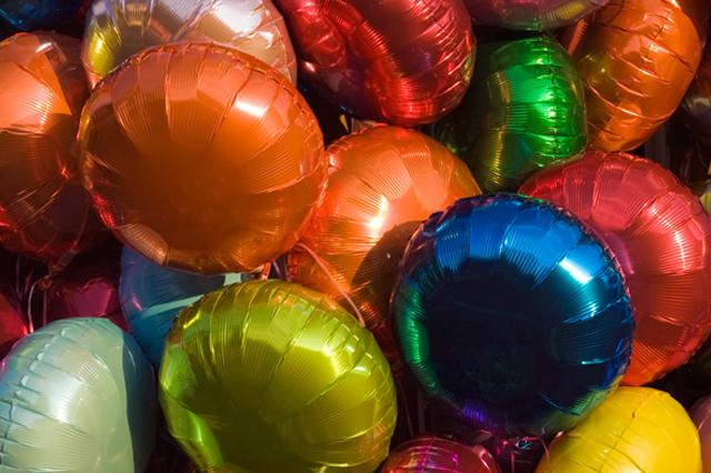 Globos de helio, protagonistas en fiestas