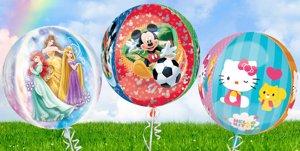 Globos con decoración infantil para cumpleaños