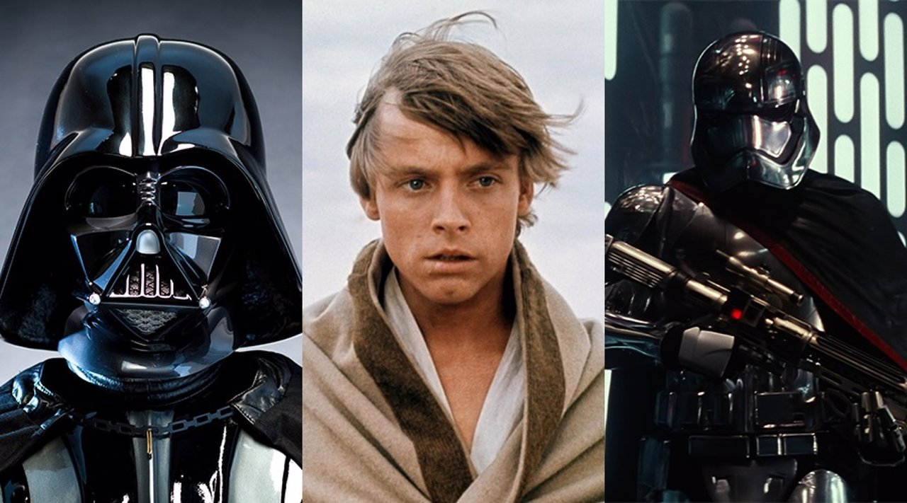 Darth Vader, Luke Skywalker y Captain Phasma