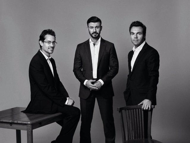 Álvaro Lissón, Antonio Renom y Daniel Suárez