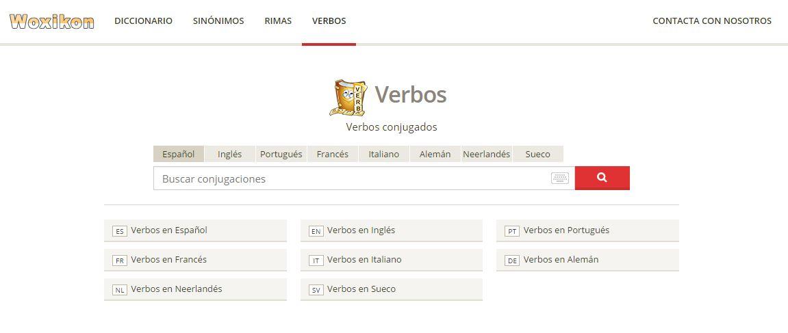 Woxicon verbos