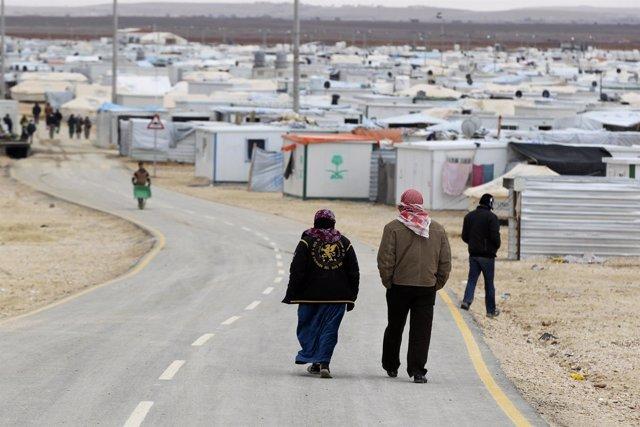 Refugiados sirios en Jordania