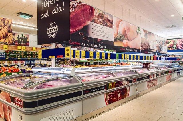 Interior de los supermercados Lidl.