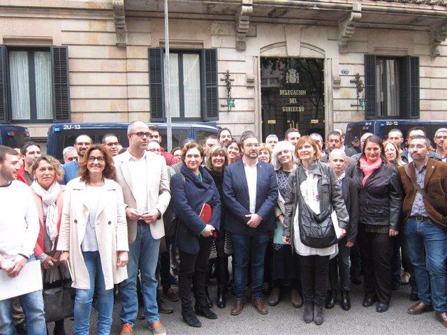 Alcaldes concentrados contra un recurso del Gobierno central en el TC