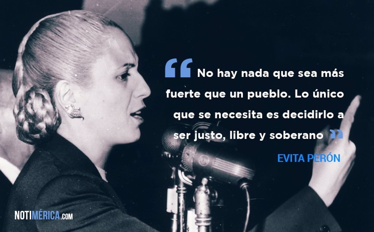 Las 10 frases más célebres de Evita Perón
