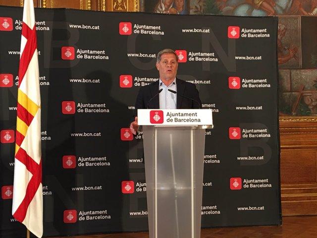 El presidente del grupo municipal del PP en Barcelona, Alberto Fernández