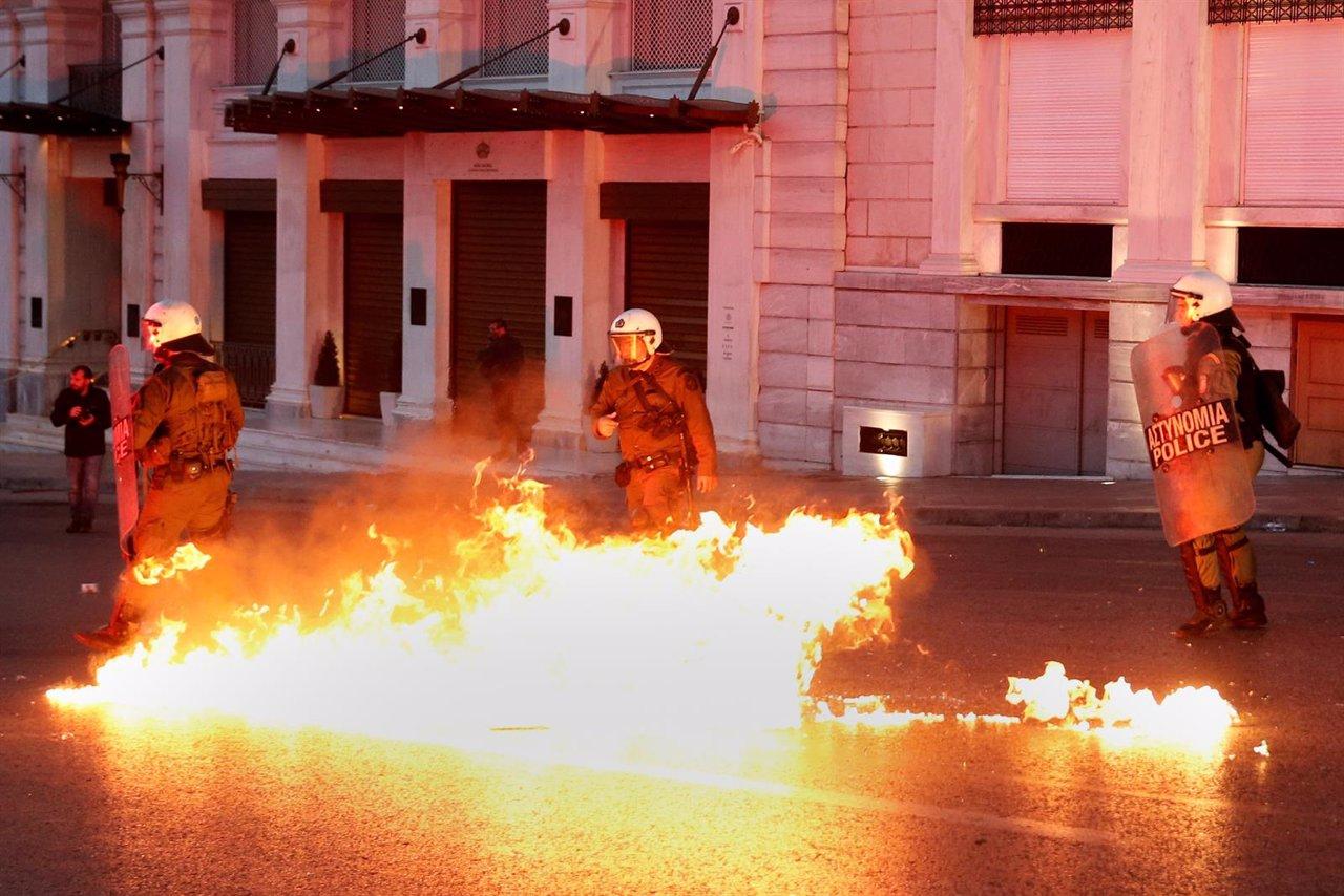 Protestas en Grecia mayo de 2016