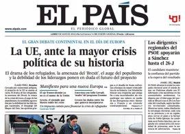 Las portadas de los periódicos de hoy, lunes 9 de mayo de 2016