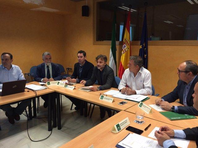 El consejero de Medio Ambiente, José Fiscal, en el Comité Asesor del Infoca