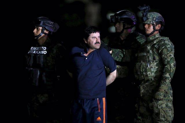 El Chapo Guzmán, detenido