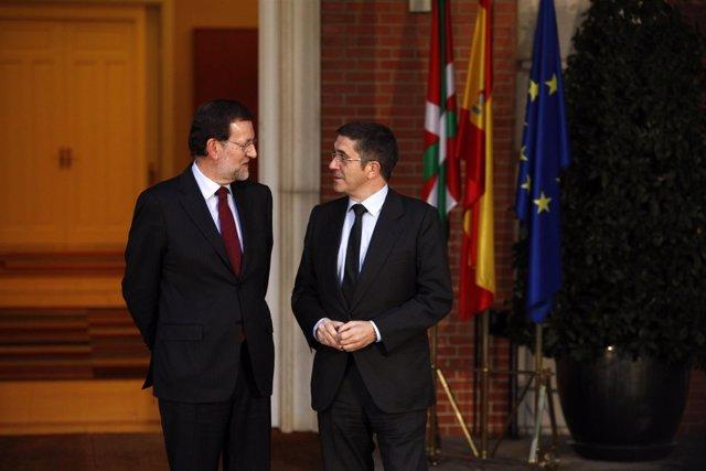 Mariano Rajoy Recibe Al Lehendakari Patxi López.