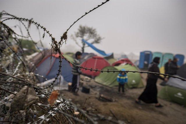 Campo de refugiados en Idomeni (Grecia)