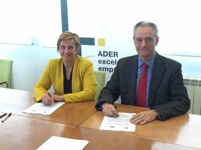 Convenio ADER y Fundación Navarra para la Excelencia
