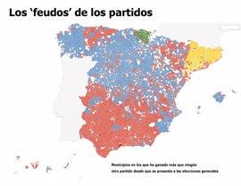 Elecciones 2016: así son los 'feudos' históricos del PP, PSOE, IU, PNV y CiU